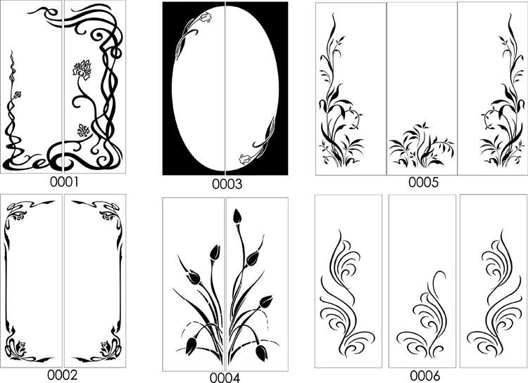Рисунки для декора стекла