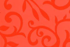 пластик 023F, Оранжевые матовые цветы