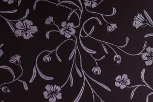 пластик 7502 Черные цветы