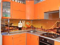 Кухня мдф синий суперметаллик