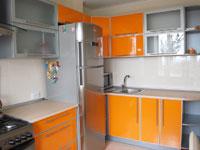 Кухня AVK постформинг в рамке (оранжевый)