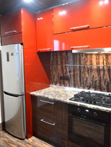 Кухня мдф крашенный пластик постформинг ral