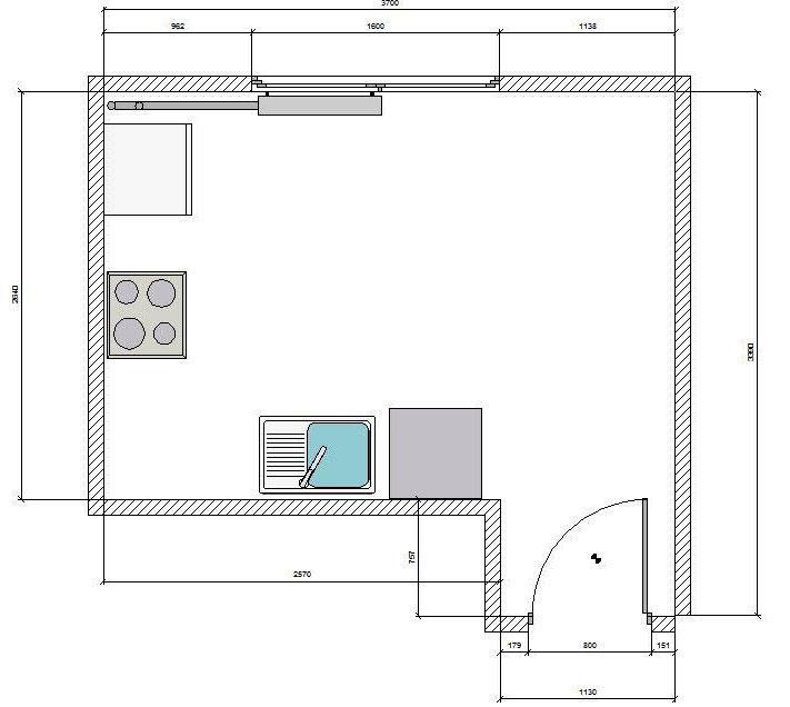 выбор высоты установки кухни