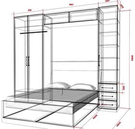 шкаф кровать AVK