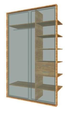 Встроенный шкаф-купе на 2 двери