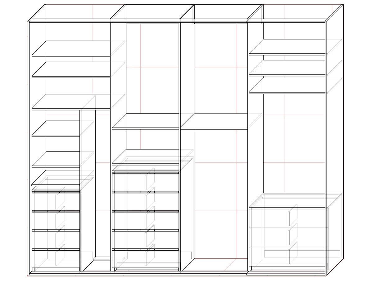 Шкафы купе в спальню фото со схемой